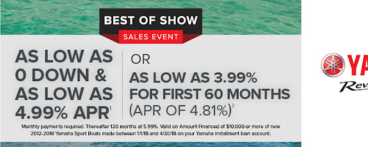 Yamaha - Best of Show Sales Event Tracy Motorsports Tracy, CA (209) 832-3400