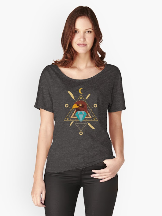 'Eagle-Kindom' Women's Relaxed Fit T-Shirt by Mini Alien