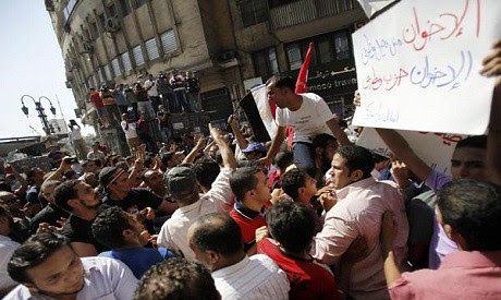 Cairo demonstration against the Freedom and Justice Party President Mohamed Morsi. The FJP, which is allied with the Muslim Brotherhood, was targeted for trying to dominate the country. by Pan-African News Wire File Photos