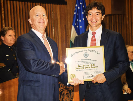 NYPD Honors Flores for Work with Asbestos-Related Diseases