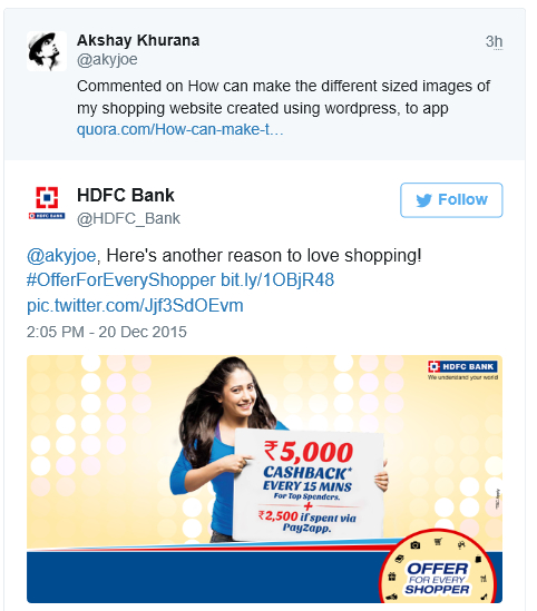 HDFC Bank Applies Immature Social Media Marketing Skills