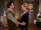 5x14 Chandler Phoebe awkward