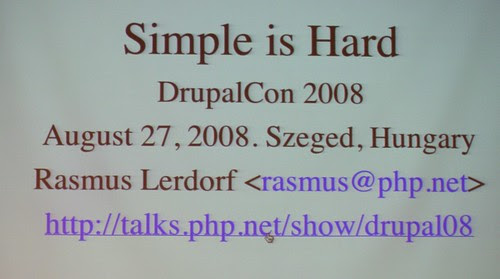 Rasmus Lerdorf - Simple is Hard