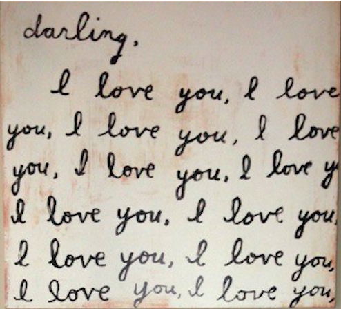 Darling I Love You Art Work Denise Ilitch