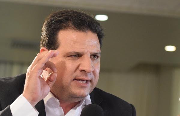 Il leader della Lista araba comune alla conferenza stampa il giorno delle elezioni 17 marzo 2015. (Mehdi Chebil/Polaris)