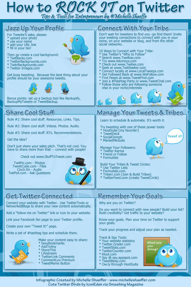 How to rock twitter account tips for entrepreneurs infographics