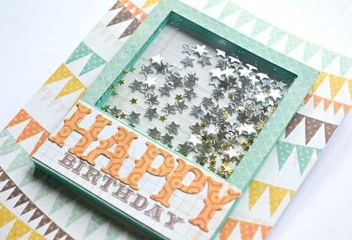 Happy Birthday Star Shaker Card Close