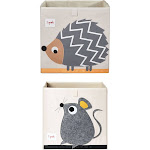 3 Sprouts Children's Foldable Fabric Storage Box Soft Toy Bins, Hedgehog & Mouse at Spreetail (VMinnovations | VM Express)