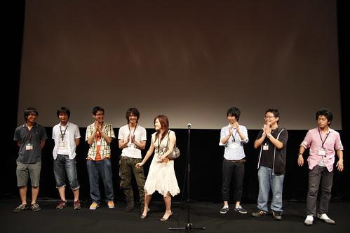 Lisa Takeba finishes her speech