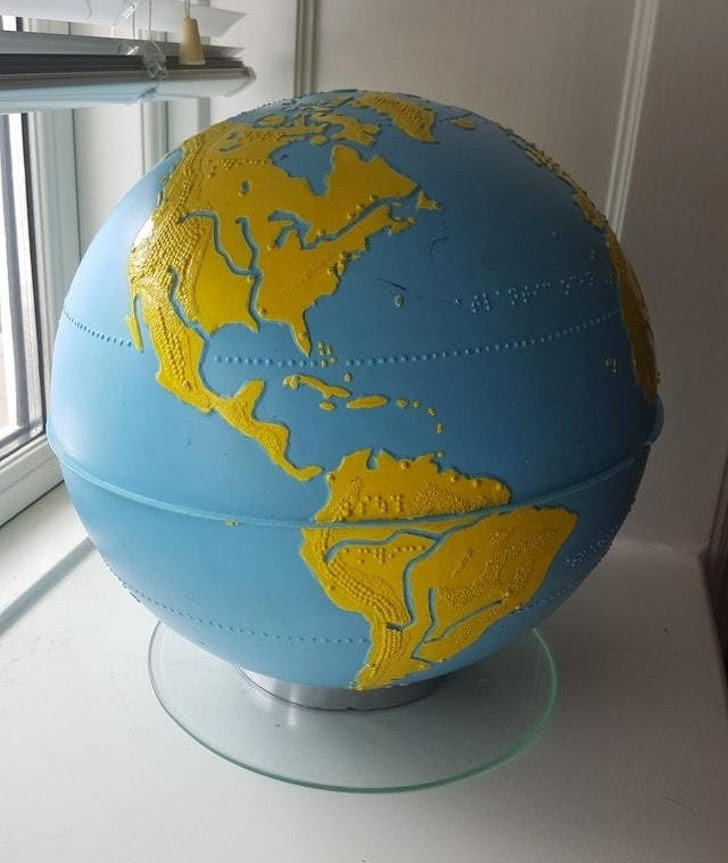 15 - A globe for blind people