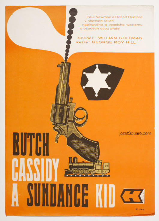 Butch Cassidy and the Sundance Kid Movie Poster, 70s Western Art