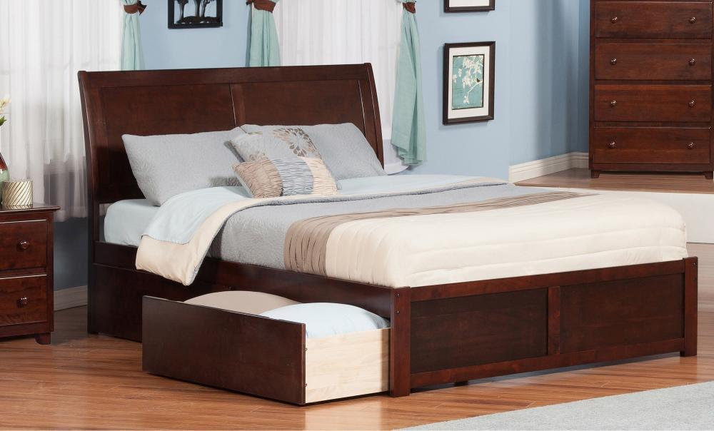 Giường ngủ gỗ có ngăn kéo bên dưới