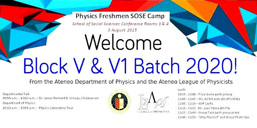 Physics Freshman SOSE Camp on Aug 3, 2015