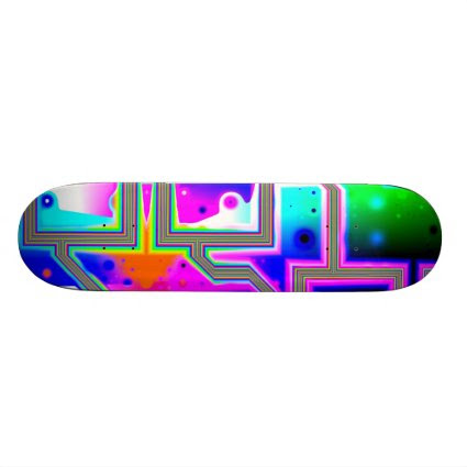 Window into the Universe– Magenta & Cyan Intersect Skateboards