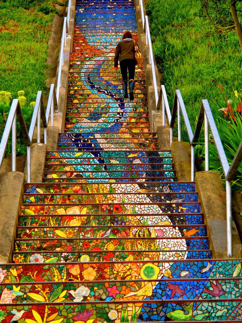 17 escadarias com as mais belas decorações urbanas do mundo 01