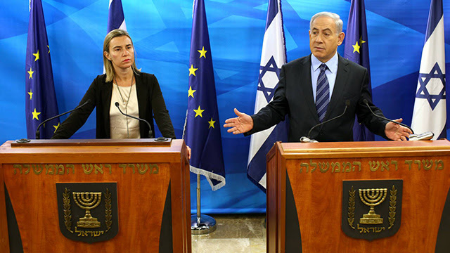 European Union foreign policy chief Federica Mogherini and Prime Minister Benjamin Netanyahu (Archive Photo: Amit Shabi)