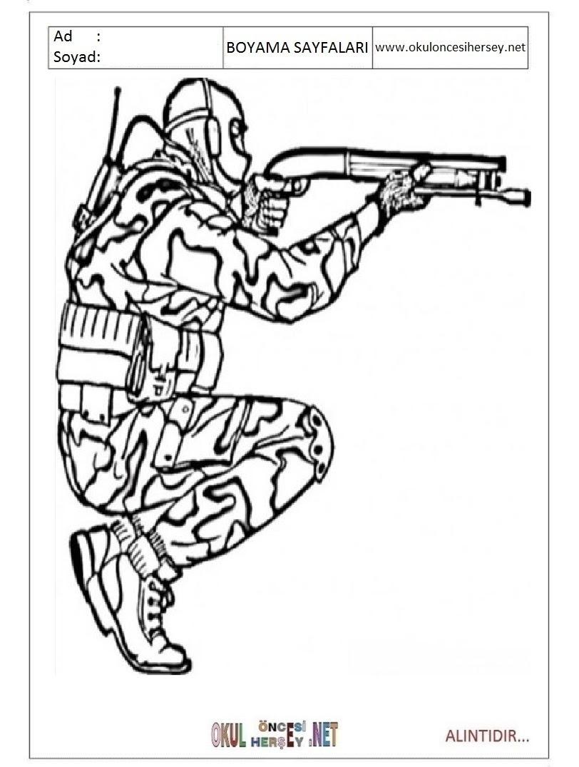 Asker Boyama Sayfas En Iyi Boyama Cocuk Kitabi