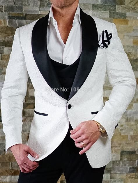 Costume Homme Mariage 2018 Best Man Blazer Smoking White