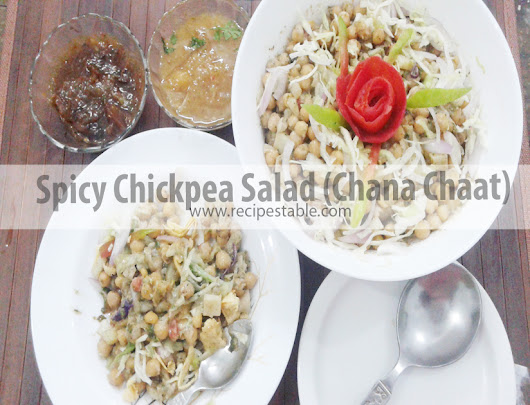 Spicy Chickpea Salad (Chana Chaat) Recipe