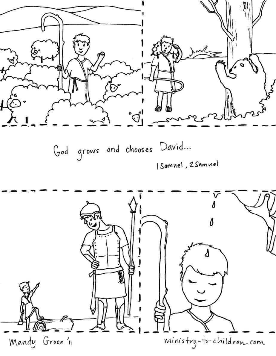 David Becomes King Coloring Page - Free Coloring Pages