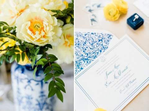 Dover Hall Estate Wedding Blue And Yellow Wedding Ideas San