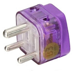Ac Power Travel Adapter Plug For India And More / With Dual Plug-in Ports And Surge Protection / Grounded