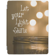 Inspirational Bible Verse Let your light shine iPad Cover