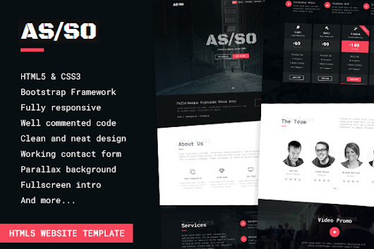 Asso - One Page HTML5 Template ~ HTML/CSS Themes on Creative Market