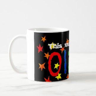 'This mug belongs to Oliver' mug mug
