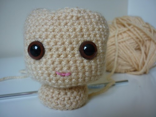 Crochet doll head