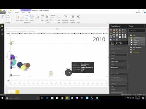 Power BI - Creating a playable scatterchart