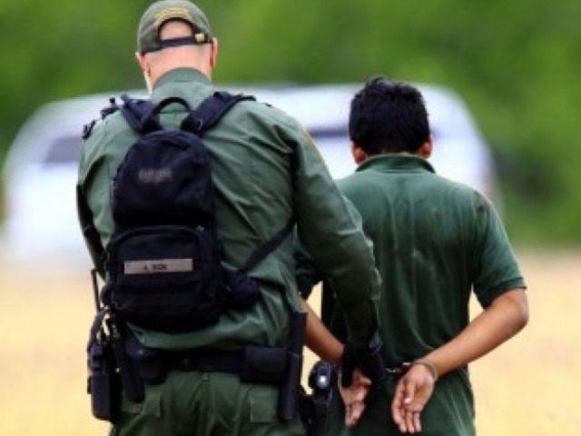 Border Patrol Agent with Alien