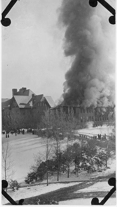 Chemistry Building Fire, October 20, 1916, Montana State University Libraries