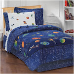 Full Outer Space Mini Bed-in-a-Bag Blue - Dream Factory