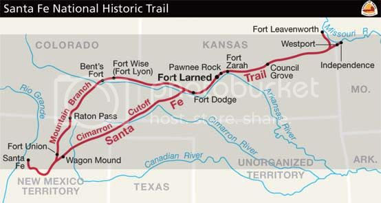 Santa Fe Trail followed by Susan Magoffin