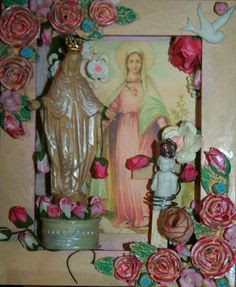 Hettienne Grobler Art - Cloister of the Heart - Rose Queen and Rose Child - Sacred Altars of the Mysteries Tarot Deck - www.path-of-divine-love.com