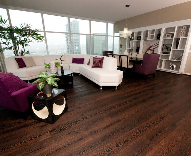 Wide-Plank Wood Floors in Living Rooms - contemporary - living ...
