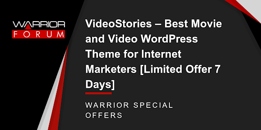 VideoStories – Best Movie and Video WordPress Theme for Internet Marketers [Limited Offer 7 Days]
