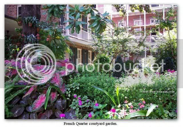 French Quarter Courtyard Garden Photo by fairweatherlewis