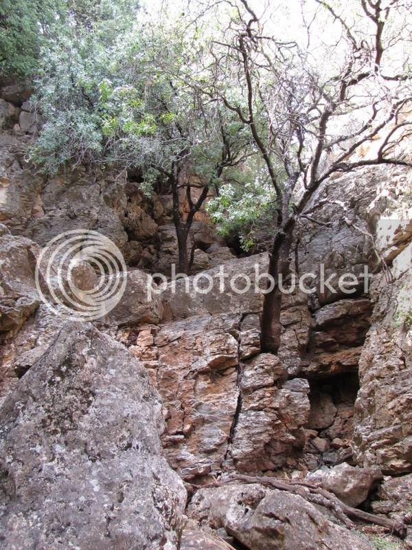 ארובה (טבעית) במפל בנחל קדש