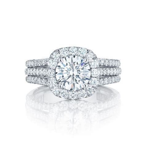 Tacori Engagement Rings Crescent Diamond Halo