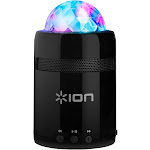 Ion Party Starter Portable Wireless Bluetooth Rechargeable Speaker with Built-In Color-Changing Beat-Sync