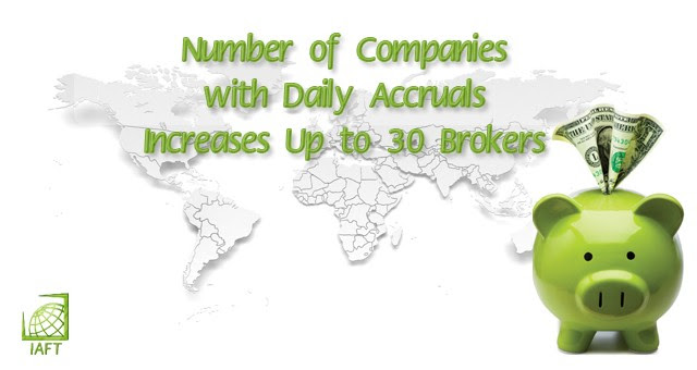 Number of Companies with Daily Accruals Increases Up to 30 Brokers