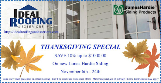 Thanksgiving Siding Special Save $1000