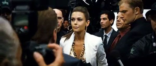 Olga Fonda is the spokeswoman for Zeus, the all-time World Robot Boxing champion in REAL STEEL.