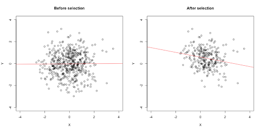 The selection-distortion effect: How selection changes correlations in surprising ways