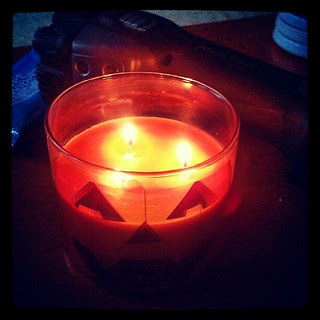 Dear #Sandy , you suck! #noelectricity #storm #fall #pumpkin #candle #flashlight #newhampshire