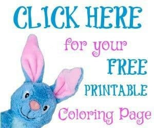 The Bunny in the Bush - Scout Coloring Page