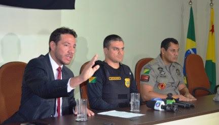 Polícias Civil e Militar traçam ofensiva para conter atos de vandalismo em Rio Branco
