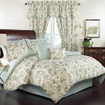 Queen 6pc Felicite Comforter Set Green - Traditions By Waverly